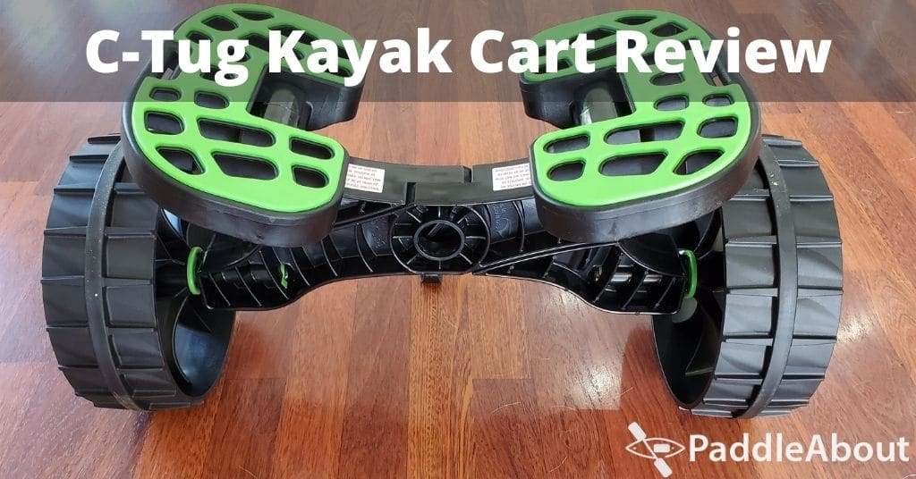 C-tug kayak cart review - cart sitting on the floor ready to load