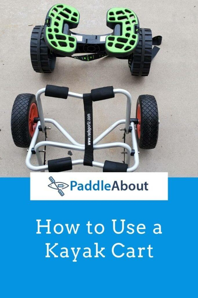 How to use a kayak cart - Examples of two different kayak trolleys