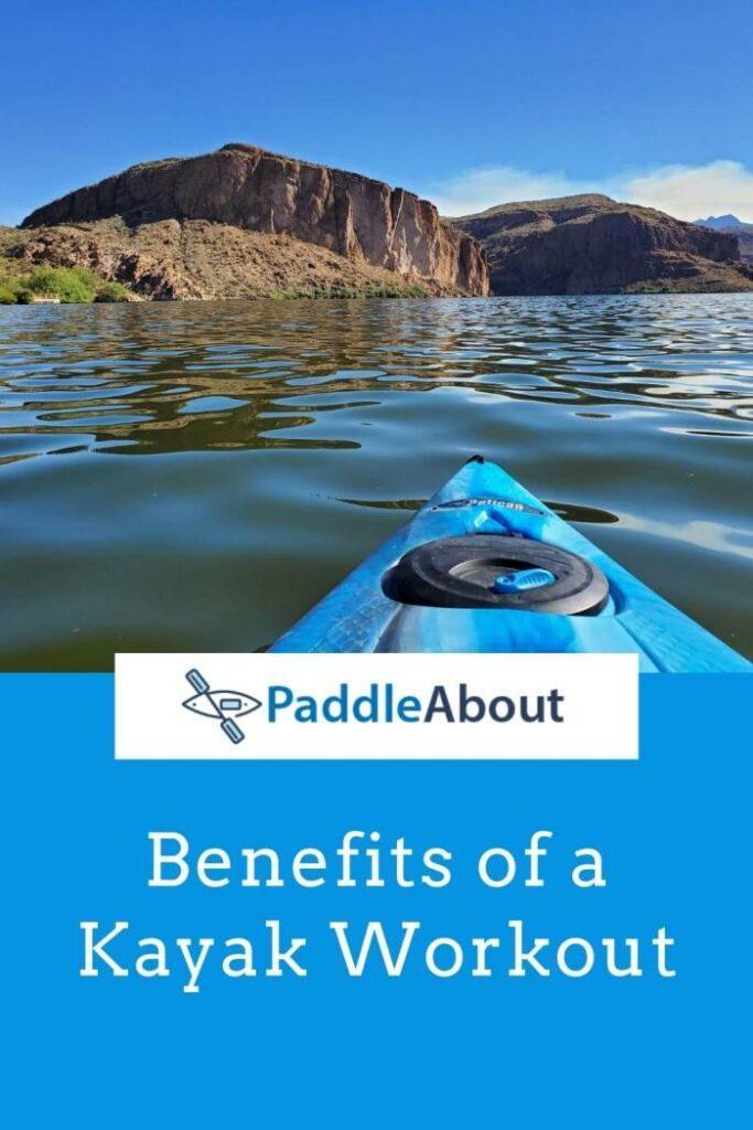 Kayak Workout - Blue kayak on a lake