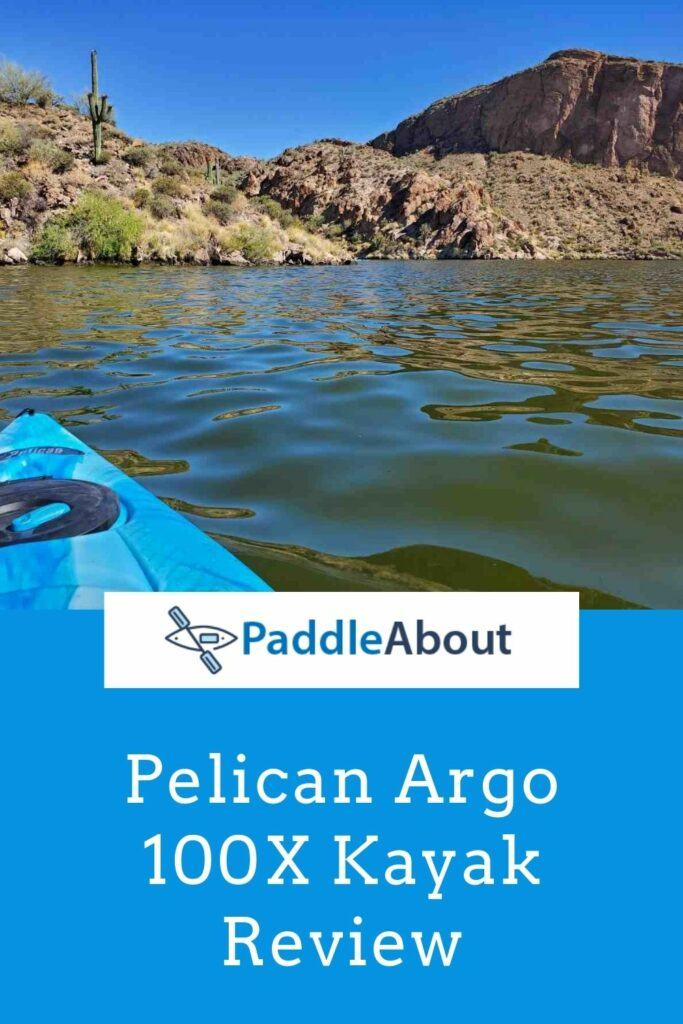 Pelican Argo 100x Kayak - Padding on a calm lake on a sunny day