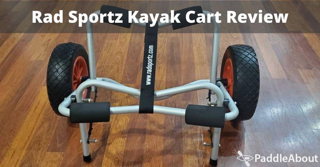 Rad Sportz Kayak Cart Review - Kayak cart sitting on the floor