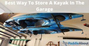Best Way To Store A Kayak In The Garage - Kayaks hanging from the ceiling