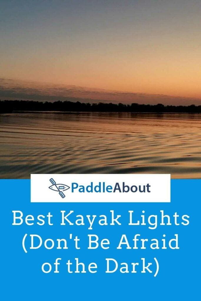 Best kayak lights - sun setting over the water