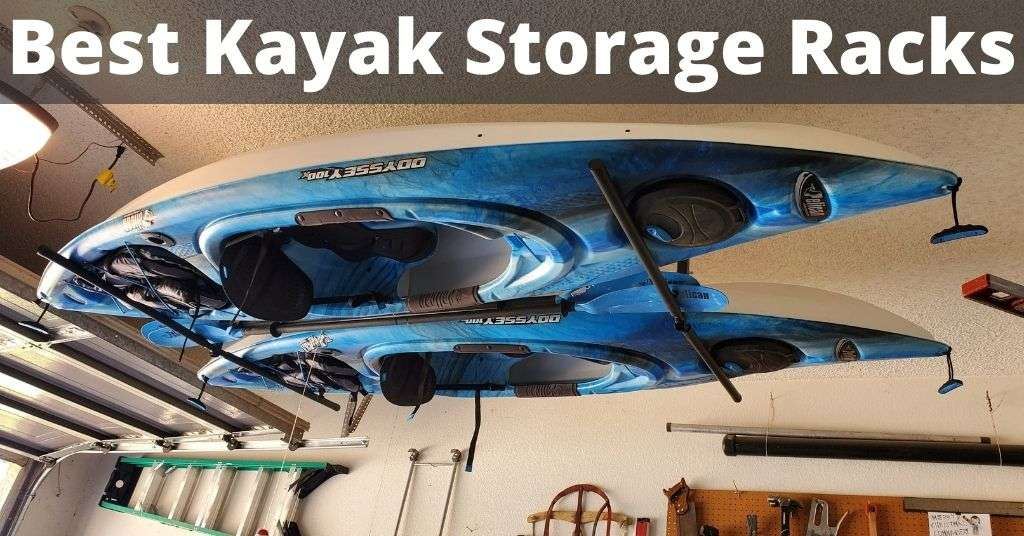 Best Kayak Storage Racks - Kayaks on a ceiling mount