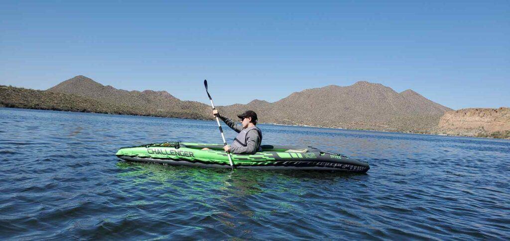Challenger K2 kayak - Paddling on a lake