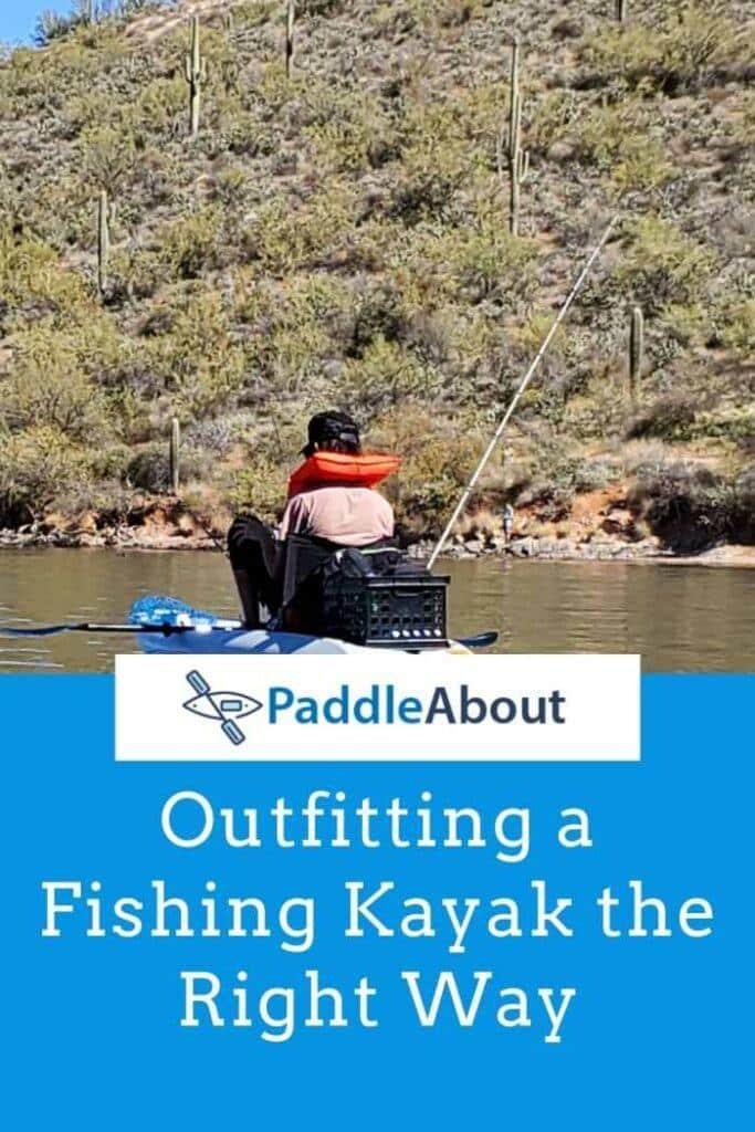 Oufitting a fishing kayak - Person fishing on a kayak