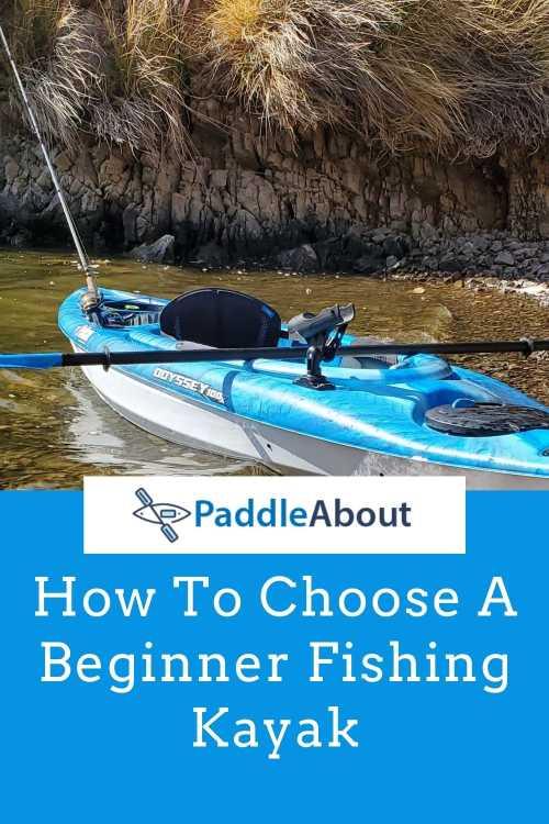 Beginner Fishing Kayak - Kayak on a pebble beach