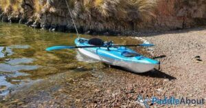 How to choose a beginner fishing kayak - fishing kayak on the beach