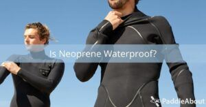 Is Neoprene Waterproof - Two people in neoprene wetsuits
