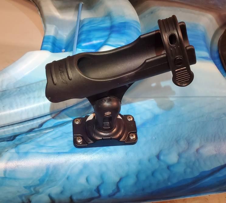Kayak rod holder - rod holder installed on a kayak