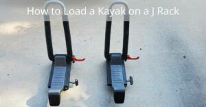 How to Load a Kayak on a J Rack - Pair of J racks on the ground
