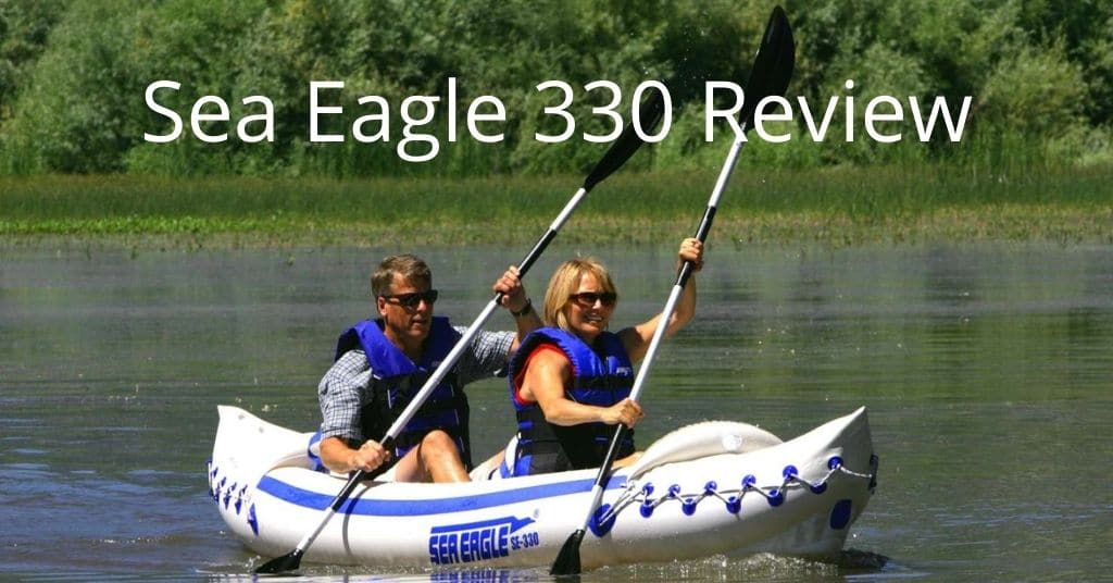 Sea Eagle 330 Review - Two people paddling