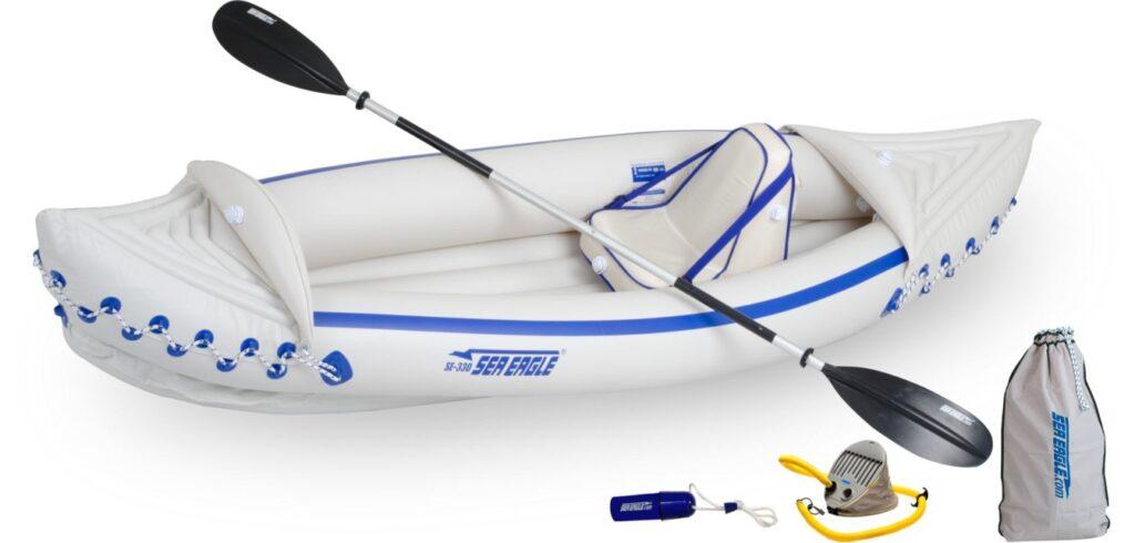 Sea Eagle 330 kayak - Solo setup