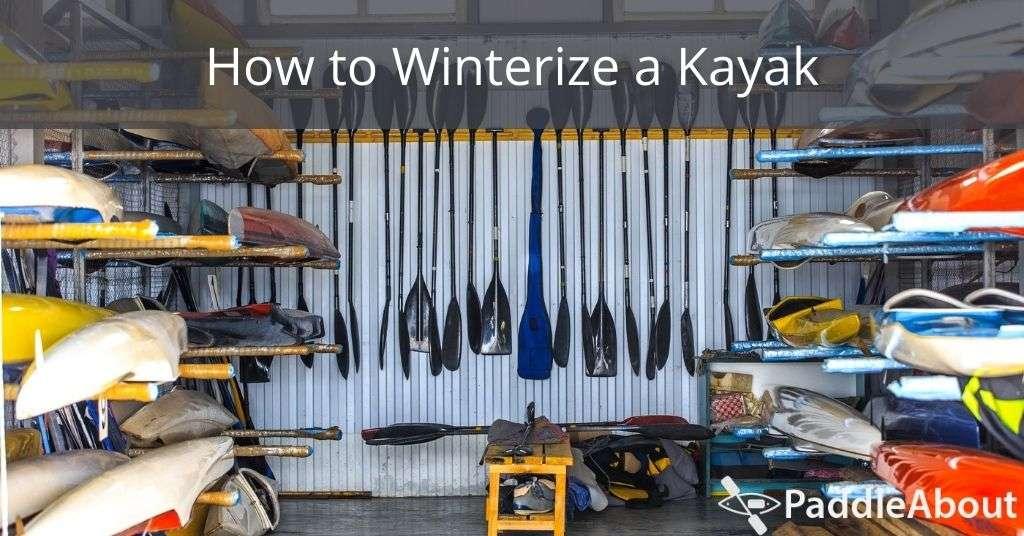 How to Winterize a Kayak - Garage full of kayaks