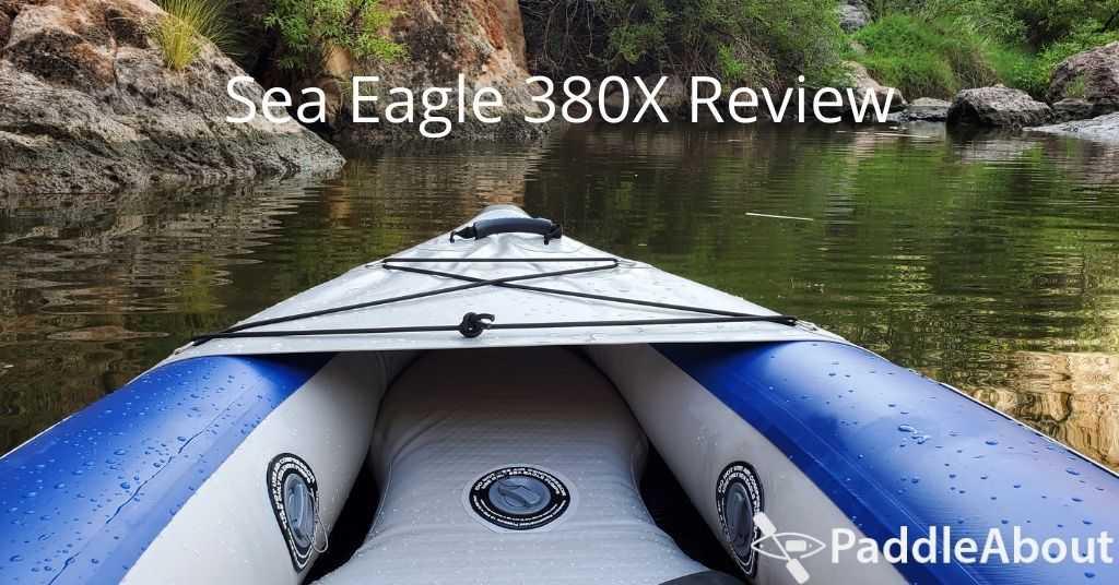 Sea Eagle 380X review - Paddling on a lake