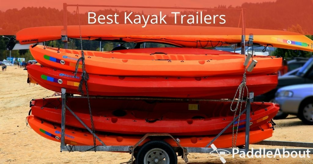 Best Kayak Trailers - Kayaks stacked on a trailer