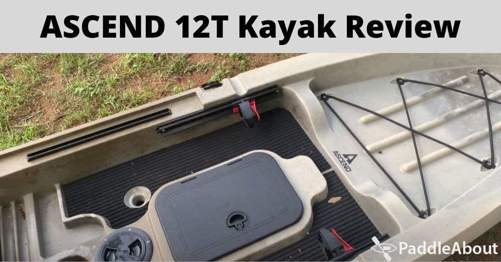 ASCEND 12T Kayak Review - 12T kayak on the grass