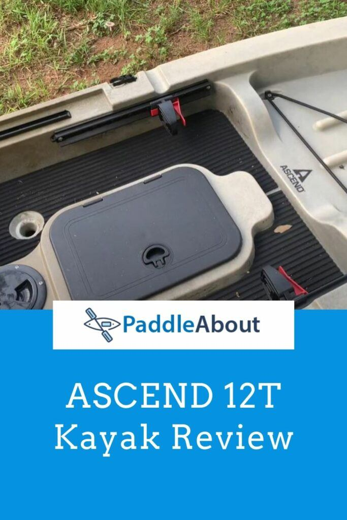 ASCEND 12T Kayak Review - 12T on deck dry storage