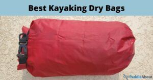 Best Kayaking Dry Bags - 10L red dry bag filled with gear