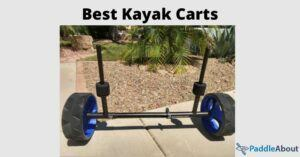 Best kayak carts - blue kayak cart in a driveway