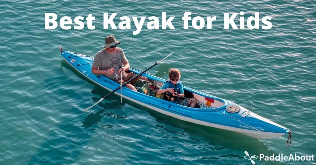 Best kayak for kids - Man fishing from a kayak with a child