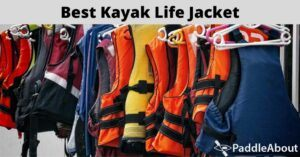 Best kayak life jacket - Different colored life jackets on a rack