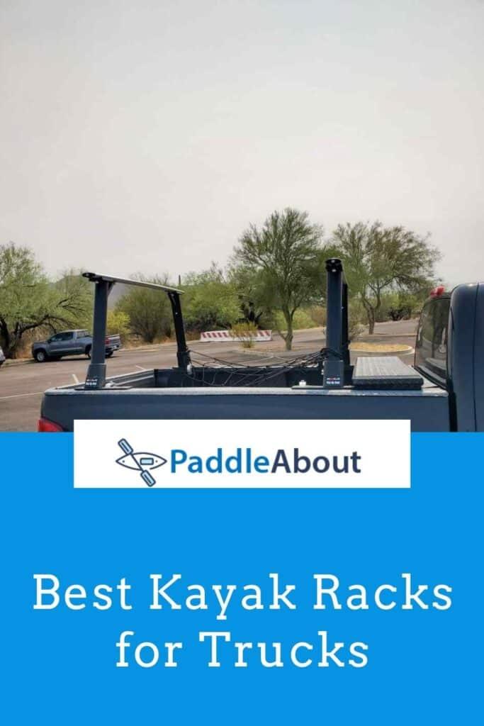 Best kayak rack for a truck - black kayak rack on a pick up