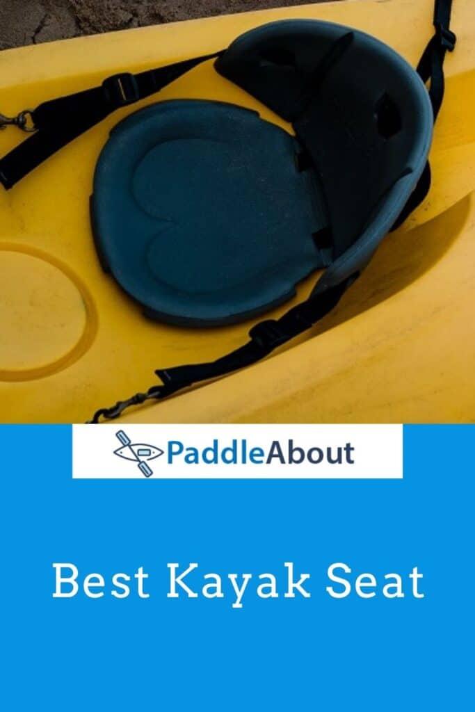 Best kayak seat - Black seat on a yellow kayak