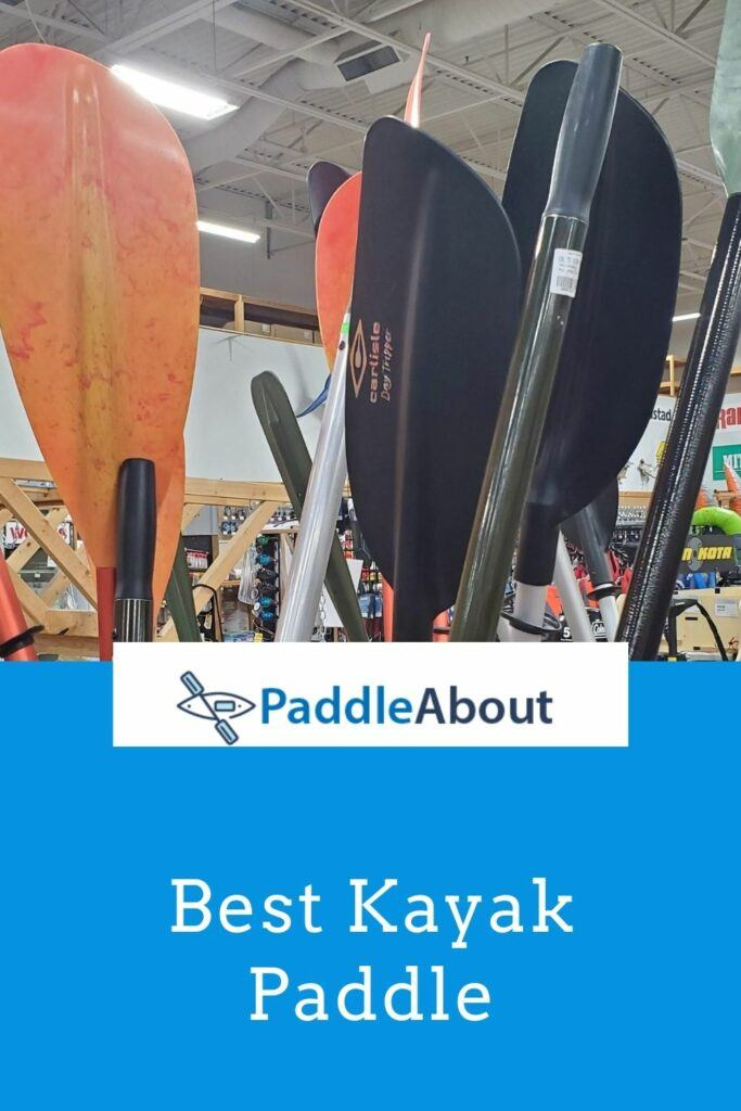 Best paddle for kayaking - Paddles in a store