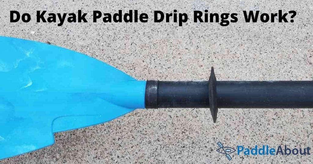 Kayak Paddle Drip Rings