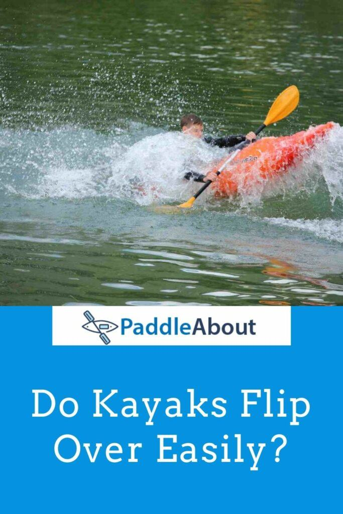Do Kayaks Tip Over Easily - A Kayaker Practicing Anti Tip Techniques