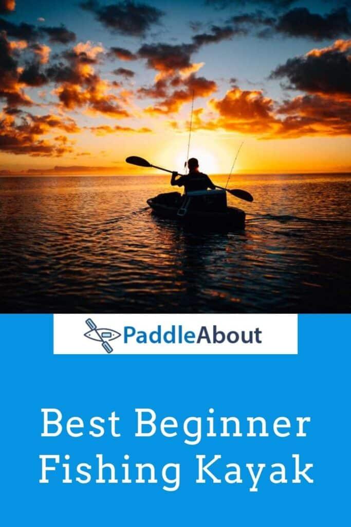 Fishing Kayak for Beginner- Man paddling at sunset