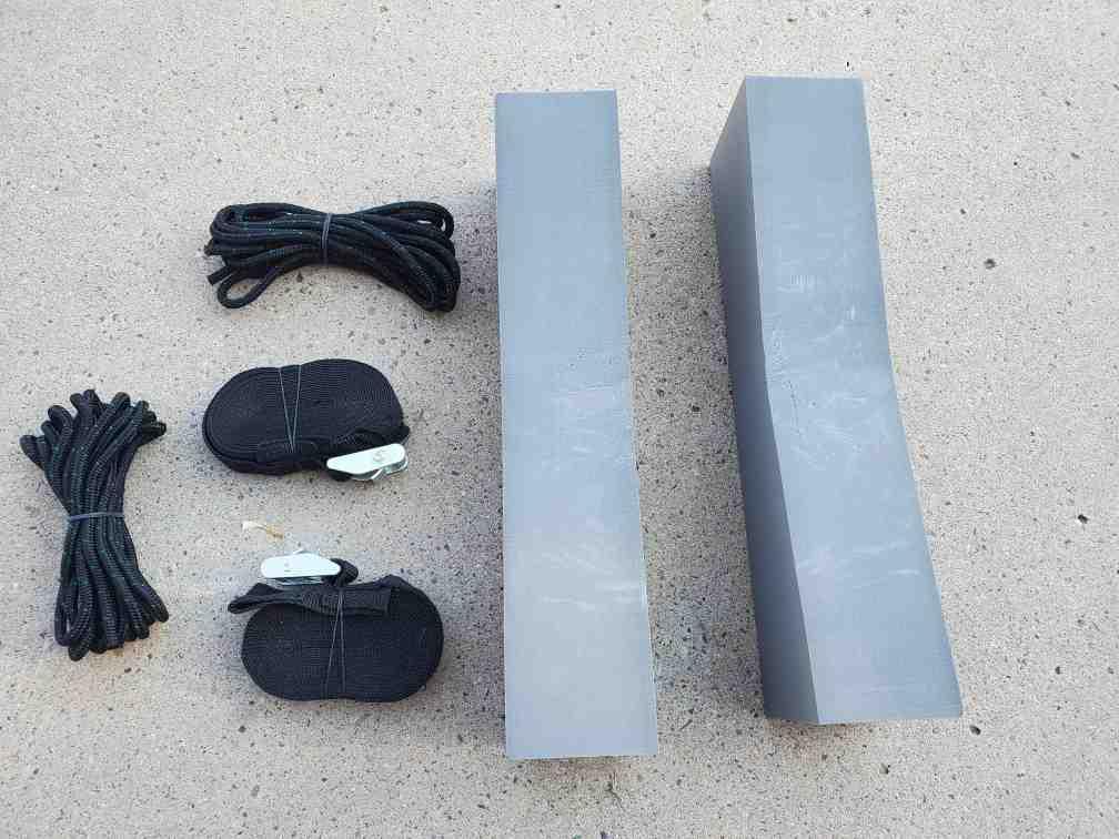Foam pad roof rack kit