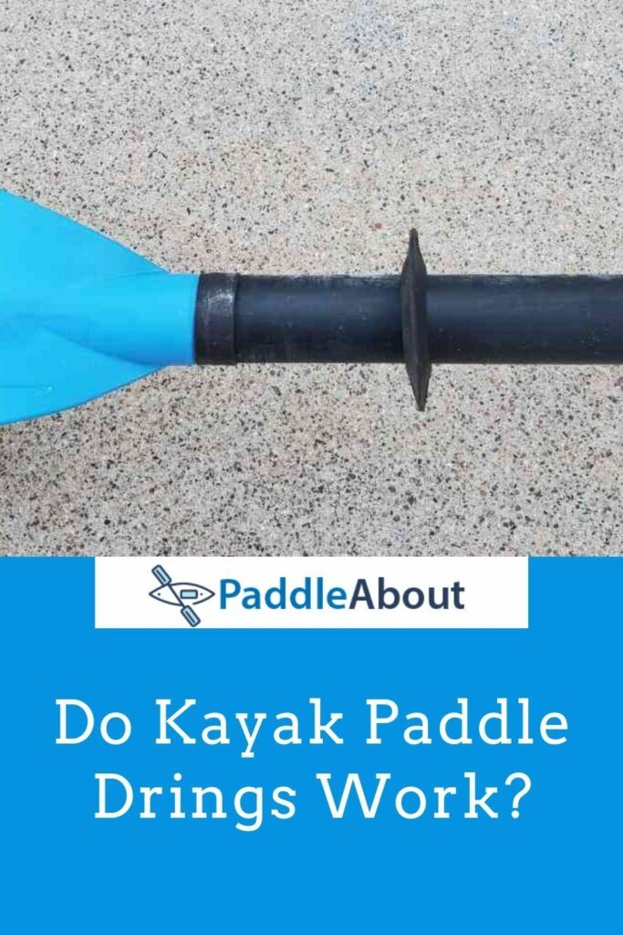 Kayak Paddle Drip Rings pin