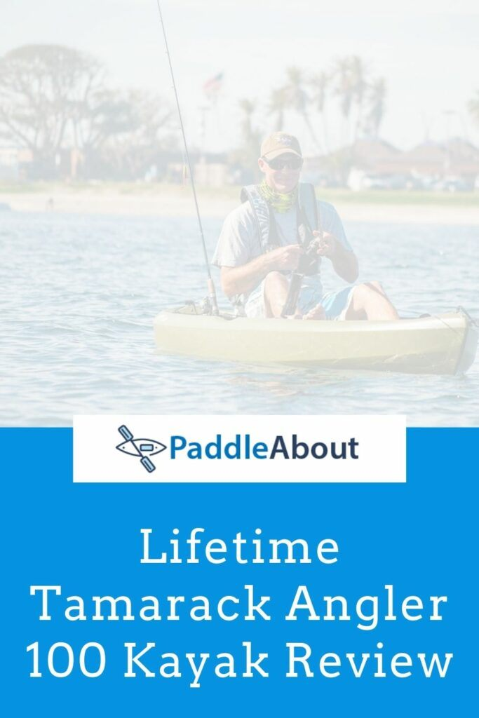 Lifetime Tamarack Angler Kayak review - Man fishing from a kayak on a calm lake