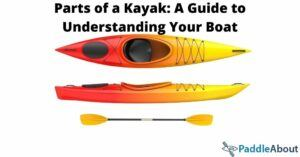 Parts of a kayak - Sit inside kayak with paddle