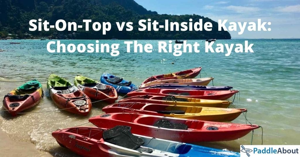 Sit-In vs Sit On Kayak - Multiple Kayaks On The Beach