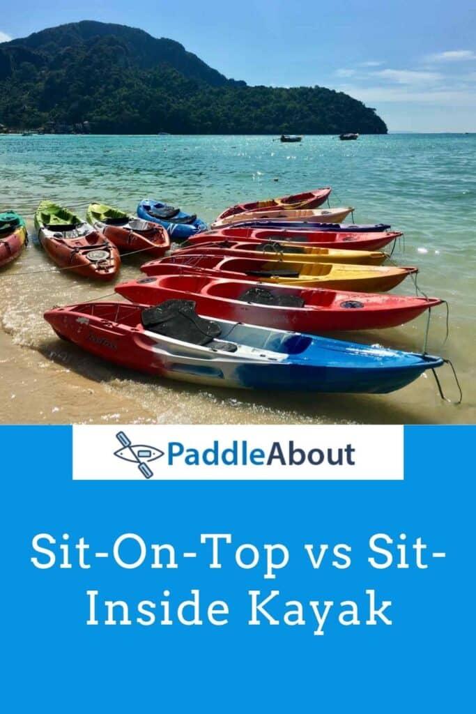 Sit in vs Sit on kayak - Kayaks on the Beach